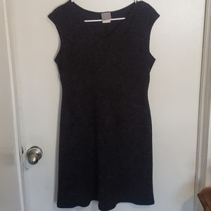Vintage Black/Gray Sweater Likes Dress Sz 12